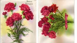 Chromo A Système 4 Volets Avec Ajoutis Fleurs  (70674) - Fleurs