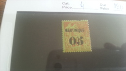 LOT 218814 TIMBRE DE COLONIE MARTINIQUE NEUF* N�4 VALEUR 20 EUROS