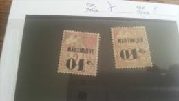 LOT 218816 TIMBRE DE COLONIE MARTINIQUE NEUF* N�7