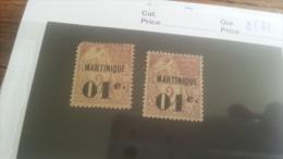 LOT 218817 TIMBRE DE COLONIE MARTINIQUE NEUF(*) N�7