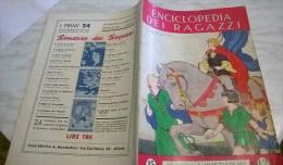 ENCICLOPEDIA DEI RAGAZZI N. 15 31/1/35 STORIA ILLUSTRATA DELLE SCARPE/ LA LOMBARDIA/ IL PURGATORIO DI DANTE - Enciclopedie