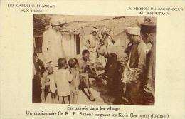 AK INDIEN INDIA  Rajputana MISSIONEN MISSION ,LES CAPUCINS FRANCAIS AUX INDES  R.P.SIMON LES KOLIS ALTE POSTKARTE - Missionen
