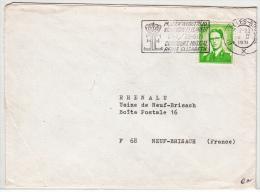 BELGIUM USED COVER 15/02/1971 COB 1068P3 - 1953-1972 Bril