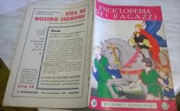 ENCICLOPEDIA DEI RAGAZZI N. 30 16/5/35 PASTEUR/ GRECIA/ GERMANIA/ REGINE SABAUDE/ PIANTA E SCHEMI DEL NEGOZIO - Enzyklopädien