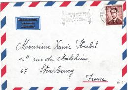 BELGIUM USED COVER 28/07/1972 COB 1068A.P3 BRUXELLES VERS PARIS - 1953-1972 Bril