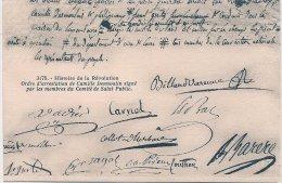 L53_628 - Révolution - 3175 Ordre D'arrestation De Camille Desmoulin Signé Par Les Membres Du Comité De Salut Public - Histoire