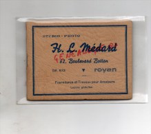 17 - ROYAN - CARNET DE PHOTOS H.L. MEDARD 62 BD BOTTON-  11 PHOTOS - CASINO- PIQUE NIQUE GRANDE COTE AOUT 1954 - Non Classés