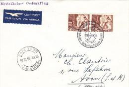 Zurich Capetown Kaapstad Le Cap 1957 Via Swissair - 1er Vol Erstflug Inaugural Flight - Suisse - RSA - Poste Aérienne