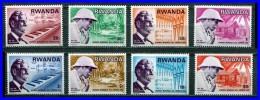 RWANDA 1976 DR.SCHWEITZER / NOBEL / MEDICINE/ MUSIC / NOTES SC#714-21 MNH Complete SET (3ALL) - Musica