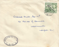 Malta 1948 Prince Of Wales Rd Sliema Office Of The Prime Minister To Westminster Cover - Malta