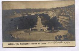 NAPOLI - 1906 - VILLA MUNICIPALE E RIVIERA DI CHIAIA. FOTOGRAFICA - Napoli (Naples)