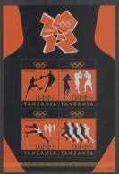 Tanzania (2012) Yv. 3793/96  /  Olympic Games London - Boxing - Athletics - Basketball - Verano 2012: Londres