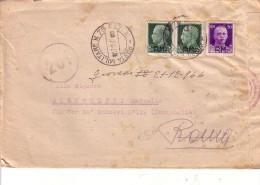 AVIAZIONE --BUSTA CON LETTERA P M 75 Sez A-- -- 17 12 1944  140a Squadriglia IDRO Aeroporto 584 (Cagliari Elmas ?)