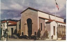 Santa Barbara California, County National Bank & Trust Building, Auto c1940s/50s Vintage Postcard