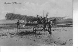 """AVIAZIONE - MONOPLANO """""""" L'ALBATROS """""""" Viaggiata 5 8 1910"""