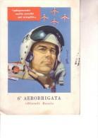 """Aviazione 6a AEROBRIGATA """" Diavoli Rossi """""""" Viaggiata 11 4 1965"""