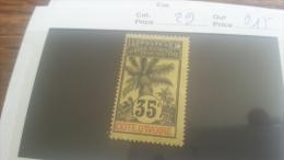 LOT 218890 TIMBRE DE COLONIE COTE IVOIRE NEUF* N�29 VALEUR 15 EUROS