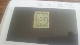 LOT 218892 TIMBRE DE COLONIE COTE IVOIRE OBLITERE N�5 VALEUR 21 EUROS