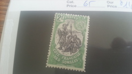 LOT 218943 TIMBRE DE COLONIE SOMALIS NEUF* N�65  VALEUR 14 EUROS