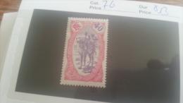 LOT 218948 TIMBRE DE COLONIE SOMALIS NEUF* N�76 VALEUR 13 EUROS