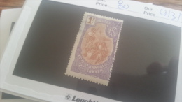 LOT 218954 TIMBRE DE COLONIE SOMALIS NEUF(*) N�80 VALEUR 35 EUROS