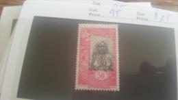 LOT 218957 TIMBRE DE COLONIE SOMALIS NEUF* N�95 VALEUR 15 EUROS