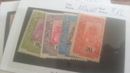 LOT 218968 TIMBRE DE COLONIE SOMALIS NEUF* N�112 A 115 VALEUR 12 EUROS