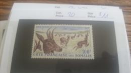 LOT 218987 TIMBRE DE COLONIE SOMALIS NEUF* N�20 VALEUR 11 EUROS