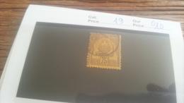 LOT 219107 TIMBRE DE COLONIE TUNISIE OBLITERE N�19 VALEUR 10 EUROS