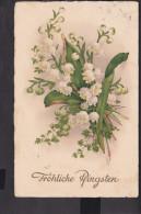 Postkarte Pfingsten ,Maiglöckchen  1931 Stempel Kirchhorsten - Pfingsten