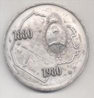 MEDALLA PRIMER CENTENARIO DE LA FEDERALIZACION DE BUENOS AIRES 1880-1980 REPUBLICA ARGENTINA RARISIME - Firma's