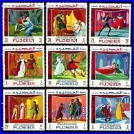 FUJEIRA 1969 SHAKESPEARE THEATER PLAYS Mi#311-19 MNH COSTUMES, JUDAICA  (3ALL) - Guidaismo
