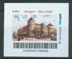 Biber Post Stuttgart Altes Schloss (45) Gezähnt Neues Logo A480 - Lots & Kiloware (max. 999 Stück)