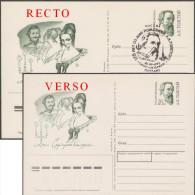 Russie 1992. Carte Postale, Entier Imprimé Recto-verso (erreur). Alexis Tolstoï, Poète, Dramaturge, Maître Des Chasses - Abarten & Kuriositäten
