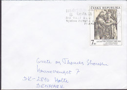 Czech Republic 1994? Cover Brief To HOLTE Denmark Lucas Van Leyden Stamp - Tschechische Republik