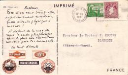 IRLANDE - BAILE ATHA - PLASMARINE - MERINOL- CROISIERE ATLANTIQUE PLASMARINE 1951-1952 -UPPER LAKE - Covers & Documents