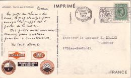 JAMAIQUE - KINGSTON - IONYL - PLASMARINE - MERINOL- CROISIERE ATLANTIQUE PLASMARINE 1951-1952 -TOUR DE GUET PORT ROYAL - Jamaique (1962-...)