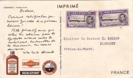 ASCENSION - IONYL - PLASMARINE - MERINOL- CROISIERE ATLANTIQUE PLASMARINE 1951-1952 -POISSON ARME. - Ascension (Ile De L')