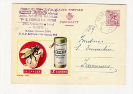 Publibel Obl. N° 1694 (Attrape-mouches  AEROXON   Ruban Gluant !!!) Obl: Seneffe 21/02/1961 - Publibels
