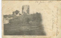 A De Nussac Postcard, Tour De Bridier, Pres La Souterraine (Creuse) (1901) - France