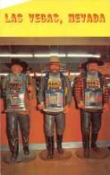 Nevada Las Vegas, Three  Cowboy  Statutes Holding Slot Machines - Las Vegas