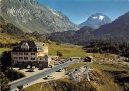 17131 Switzerland, Kanton, Hotel Maloja-Kulm, Mit Piz Del Forno, Mountains In Background - Hotel's & Restaurants