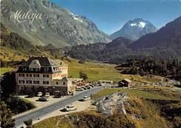 17131 Switzerland, Kanton, Hotel Maloja-Kulm, Mit Piz Del Forno, Mountains In Background - Hoteles & Restaurantes