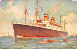 17419 Steamship, Hamburg-Amerika Linie, New York - Dienst - Paquebots