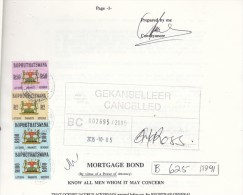 Bophuthatswana: 1991 Mortgage Bond, 9 Pp, Revenue Stamps R100 X2, R50, R2, - Bophuthatswana