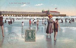 Ac - Cpa USA -  In The Surf, Long Beach, Cal. - Long Beach