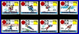 Rwanda 1972 SAPPORO OLYMPICS SC#436-43 MNH SKIING, SKATING, HOCKEY   (3ALL)