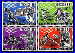 Rwanda 1968 MEXICO  OLYMPICS MNH PRE-COLUMBIAN ARTIFACTS  (3ALL) - Zomer 1968: Mexico-City