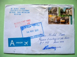 Belgium 2012 Cover To Nicaragua - Cities Antwerpen - Belgio