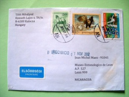 Hungary 2012 Cover To Nicaragua - Bird Eagle - Gymnastics - Chair - Lettere
